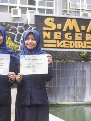 Juara 1 pada Lomba Smarihasta Broadcasting Competition Tingkat Provinsi.
